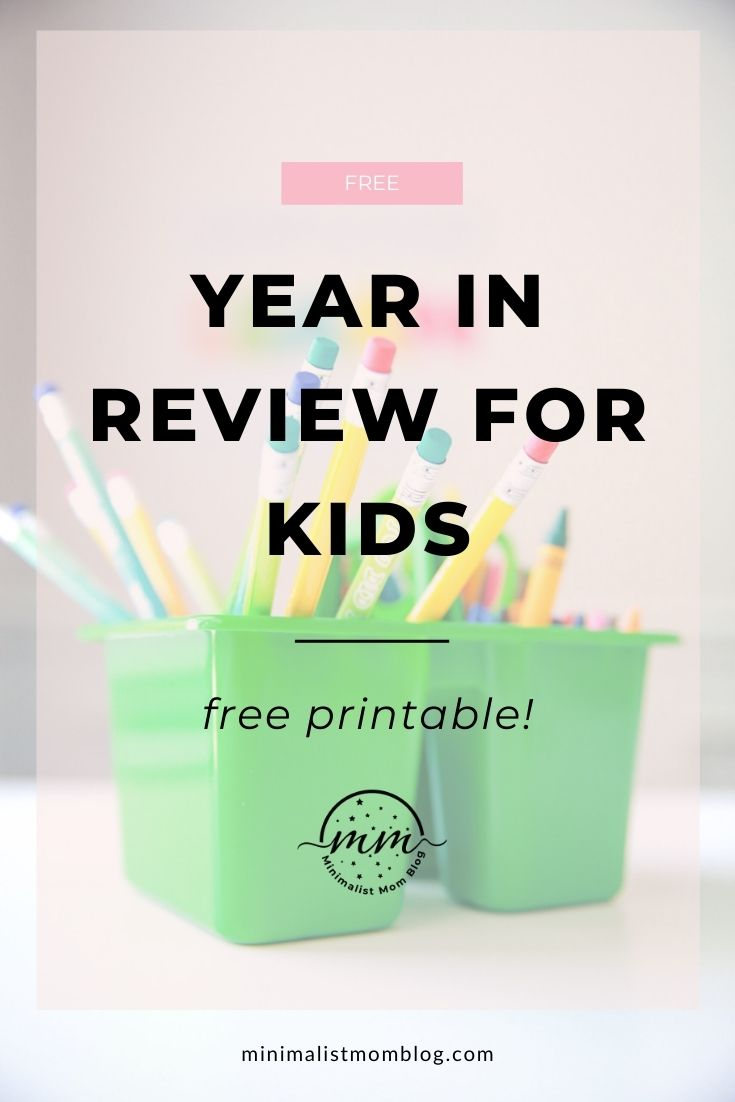 free year in review printable for kids